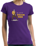 Ladies Purple Kant Touch This - Continental Philosophy Joke Humor Academic T-shirt
