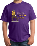 Youth Purple Kant Touch This - Continental Philosophy Joke Humor Academic T-shirt