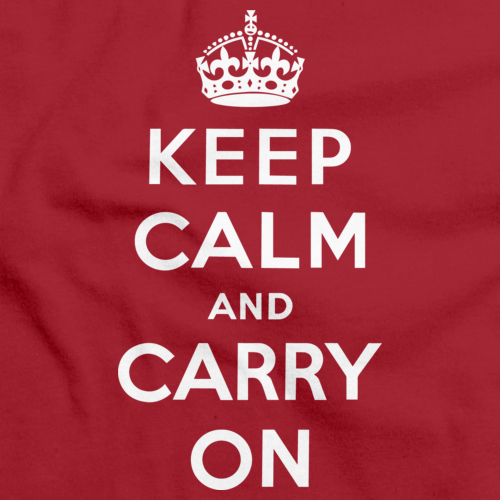 KEEP CALM AND CARRY ON Red art preview