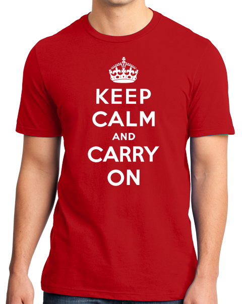 Standard Red Keep Calm And Carry On - London Blitz WW2 History Churchill T-shirt