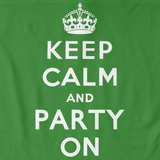 Keep Calm and Party On Green Art Preview