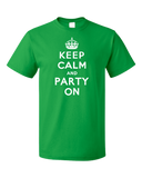 Standard Green Keep Calm And Party On - St. Patrick's Day Funny Party T-shirt
