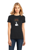Ladies Black No Soup for You!  T-shirt
