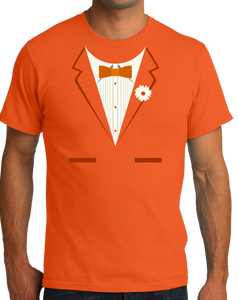 Standard Orange Orange Tuxedo - Funny Easy Costume Party Wedding Prom T-shirt