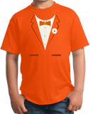 Youth Orange Orange Tuxedo - Funny Easy Costume Party Wedding Prom T-shirt