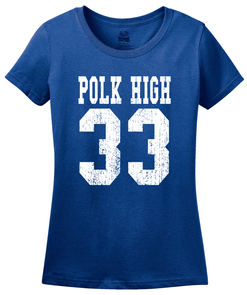 Ladies Royal Polk High 33 - Al Bundy Married With Children Funny 90s TV T-shirt