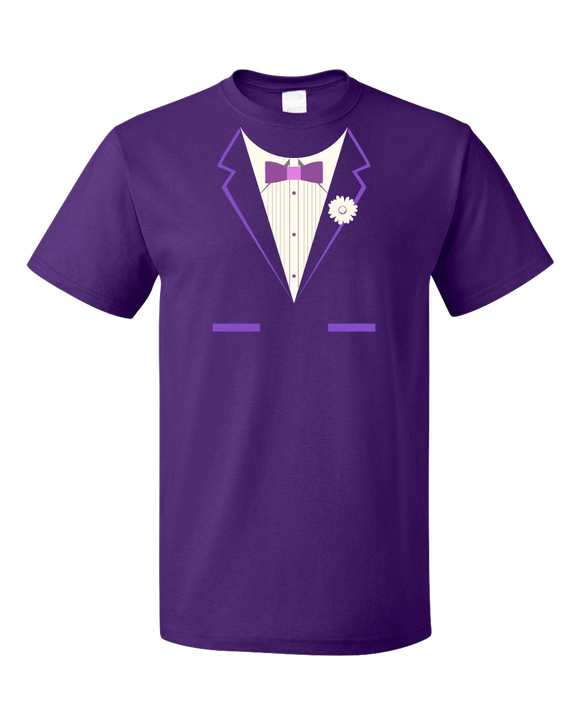 Standard Purple Purple Tuxedo - Silly Gag Prom Wedding Tux Party Funny T-shirt