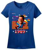 Ladies Royal Epic Ronald Reagan Punching Through Berlin Wall - Patriotism T-shirt