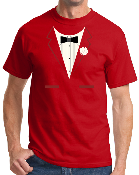 Standard Red Red Tuxedo - Silly Gag Prom Wedding Tux Party Funny T-shirt