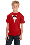 Youth Red Red Tuxedo - Silly Gag Prom Wedding Tux Party Funny T-shirt