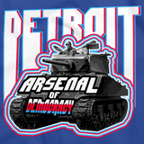 DETROIT: ARSENAL OF DEMOCRACY Royal Blue art preview