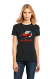 Ladies Black Sledneck - Redneck Humor Snowmobile Pride Funny Sledding T-shirt