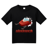 Youth Black Sledneck - Redneck Humor Snowmobile Pride Funny Sledding T-shirt