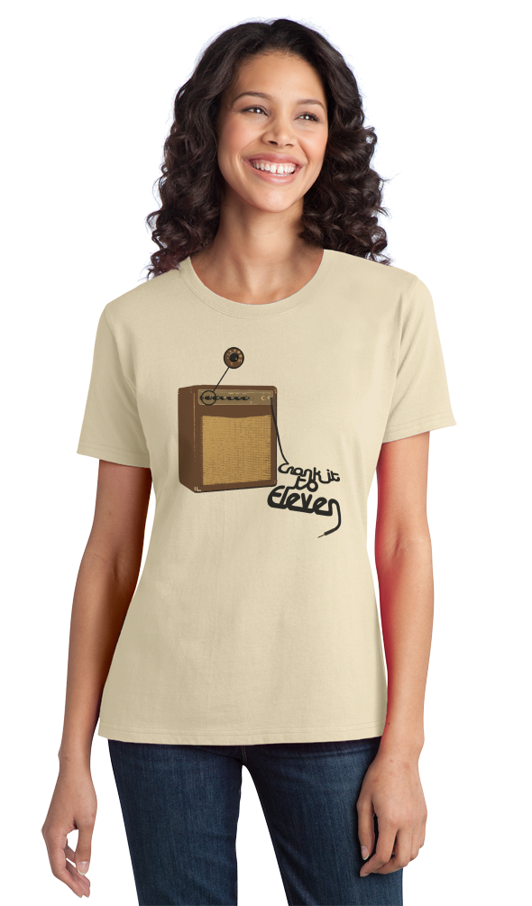 Ladies Natural Spinal Tap Amp Eleven T-shirt