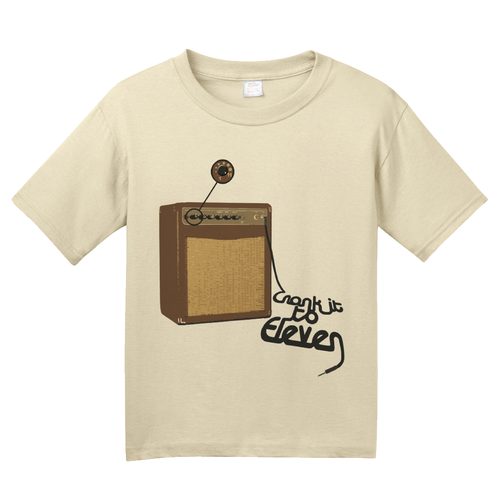 Youth Natural Spinal Tap Amp Eleven T-shirt