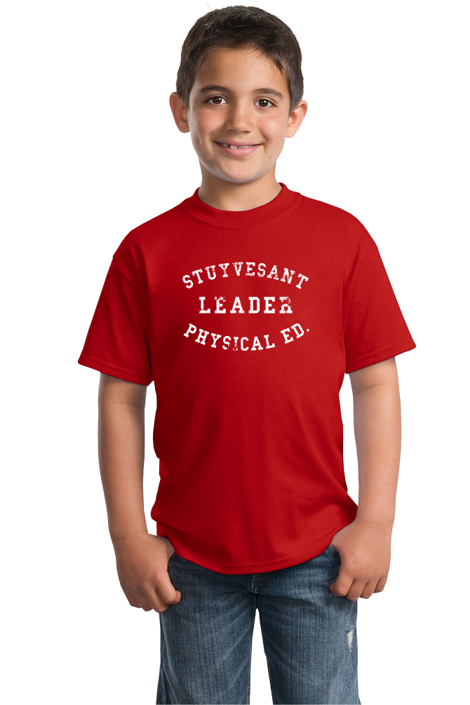 Youth Red STUYVESANT PHYS ED LEADER  T-shirt