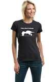Ladies Black T-REX CAN'T DO PUSH-UPS T-shirt