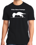 Standard Black T-REX CAN'T DO PUSH-UPS T-shirt
