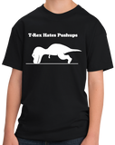 Youth Black T-REX CAN'T DO PUSH-UPS T-shirt
