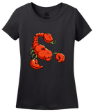 Ladies Black Trinidad Moruga Scorpion Pepper - Pepper Fan Hot Spicy Foodie T-shirt