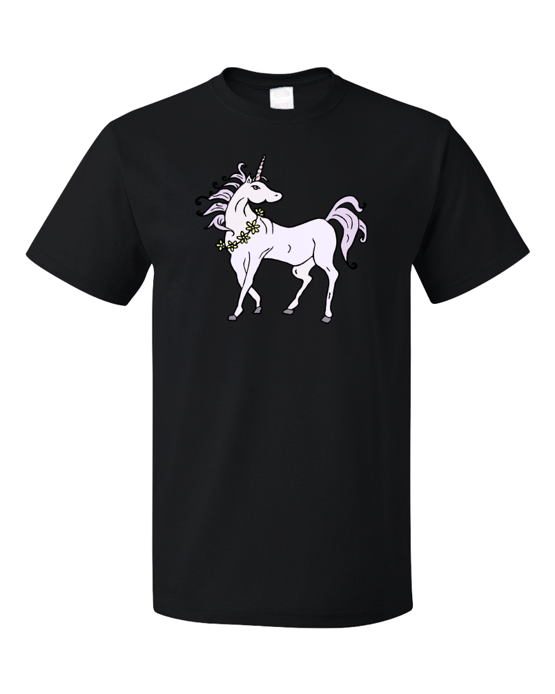 Standard Black Bad Ass Horse With Super Sharp Spike In Head - Unicorn Awesome T-shirt