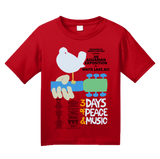 Youth Red WOODSTOCK POSTER TEE T-shirt