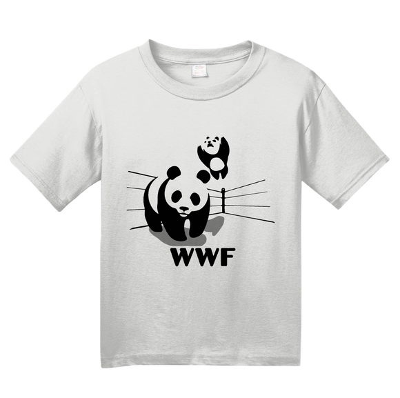 Youth White World Wildlife Wrestling Fund - WWF Funny Cute Pandas Panda Love T-shirt