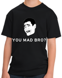 Youth Black YOU MAD BRO? Tee T-shirt