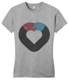 Girly Grey OPPOSITES ATTRACT T-shirt
