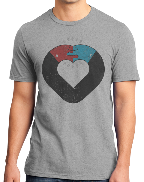 Standard Grey OPPOSITES ATTRACT T-shirt