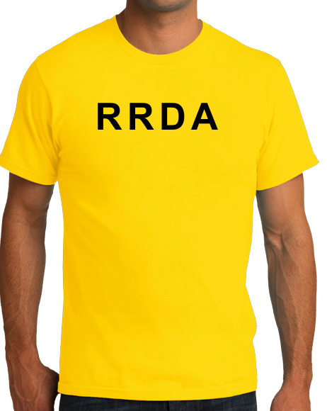 Unisex Yellow RRDA - Warning: Do Not Tell The Driver How To Drive The Bus T-shirt
