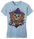 Girly Light Blue StarKid Rumbleroar's Army T-shirt