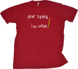 Standard Red Penitent Santa Note - Santa Begging Christmas Humor Explanation T-shirt