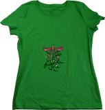 Ladies Green Oh *There's* the Mistletoe - Christmas Raunchy Humor Mistletoe T-shirt