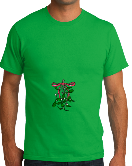 Standard Green Oh *There's* the Mistletoe - Christmas Raunchy Humor Mistletoe T-shirt
