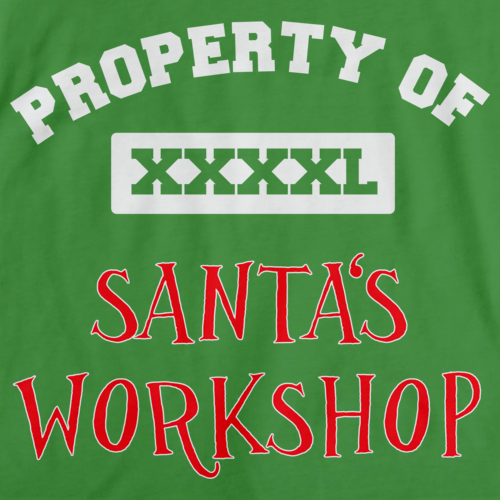 Property Of Santa's Workshop Green Art Preview