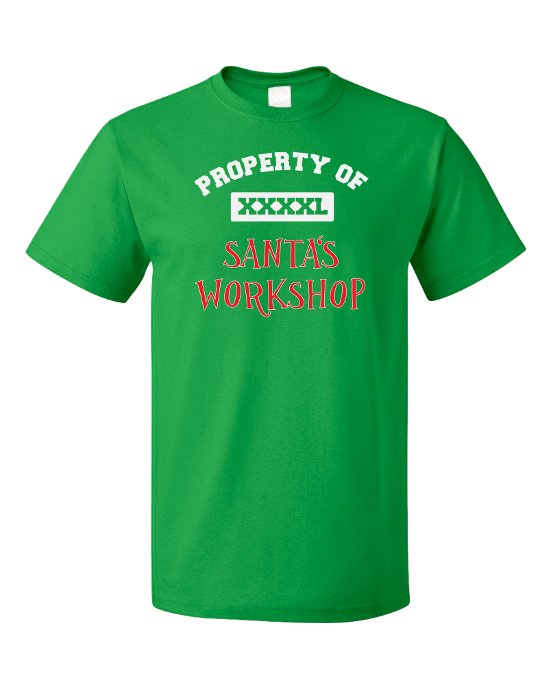 Standard Green Property Of Santa's Workshop - Santa Helper Elf Cute Christmas T-shirt