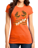 Girly Orange Eye to Eye Goofy Movie Inspired Tee T-shirt