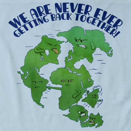 Pangaea Never Getting Back Together Light blue art preview