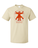Standard Natural Vitruvian Chimpanzee Science Tee T-shirt