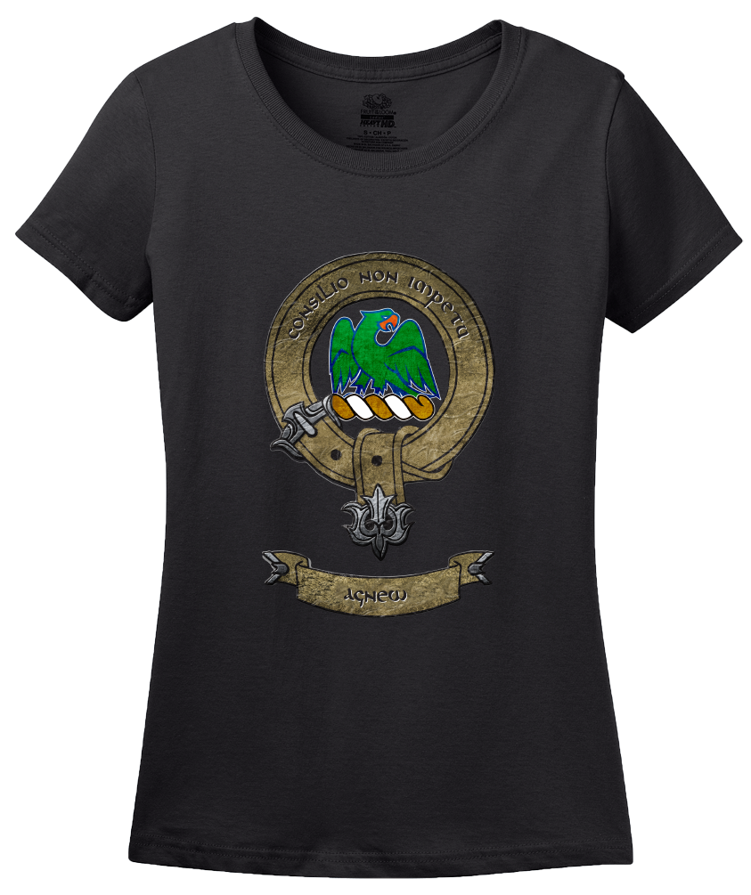 Ladies Black Clan Agnew - Scottish Pride Heritage Ancestry Family History T-shirt