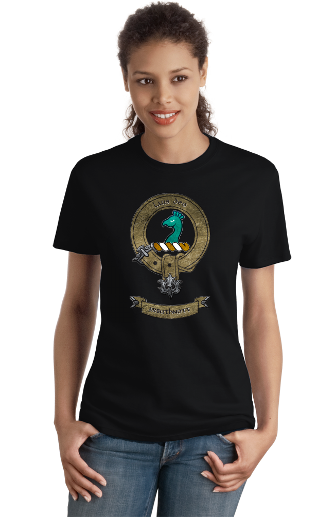 Ladies Black Clan Arbuthnott - Scottish Pride Ancestry Clan Arbuthnott Family T-shirt