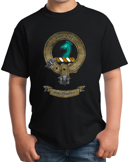 Youth Black Clan Arbuthnott - Scottish Pride Ancestry Clan Arbuthnott Family T-shirt