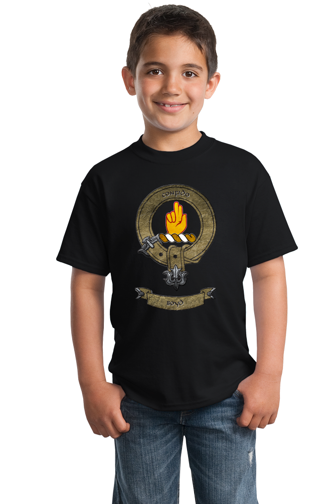 Youth Black Clan Boyd - Scottish Pride Heritage Ancestry Family Clan Boyd T-shirt