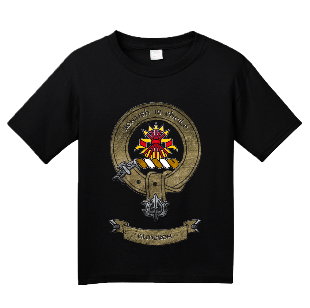 Youth Black Clan Cameron - Scottish Pride Heritage Ancestry Clan Cameron T-shirt