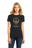Ladies Black Clan Charteris - Scottish Pride Heritage Ancestry Clan Charteris T-shirt