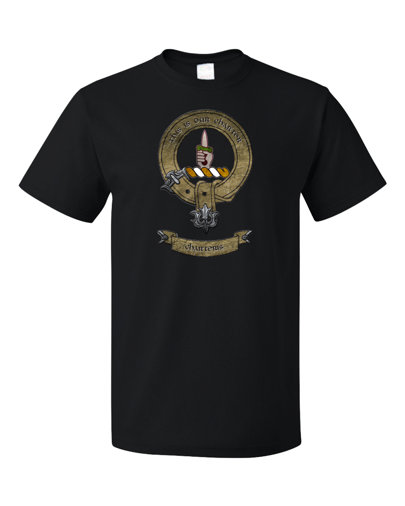 Unisex Black Clan Charteris - Scottish Pride Heritage Ancestry Clan Charteris T-shirt