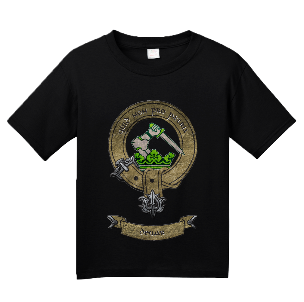 Youth Black Clan Dewar - Scottish Pride Heritage Ancestry Family Clan Dewar T-shirt