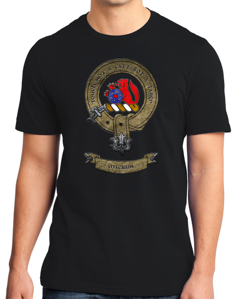 Standard Black Macbain Clan - Scottish Pride Heritage Clan Macbain Family T-shirt