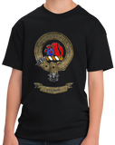 Youth Black Macbain Clan - Scottish Pride Heritage Clan Macbain Family T-shirt